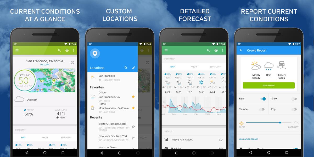 Những app thời tiết nên sử dụng để cập nhật thời tiết tp Biên Hoà hôm nay