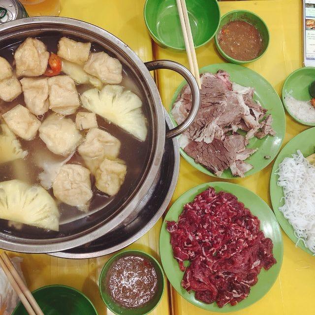 Phá Lấu Sạch 89 – Quán bò nhúng dấm nổi tiếng ở Biên Hòa